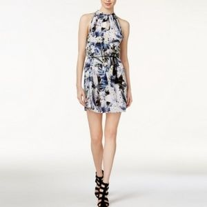 NWT Kensie Floral/Tropical shift keyhole dress